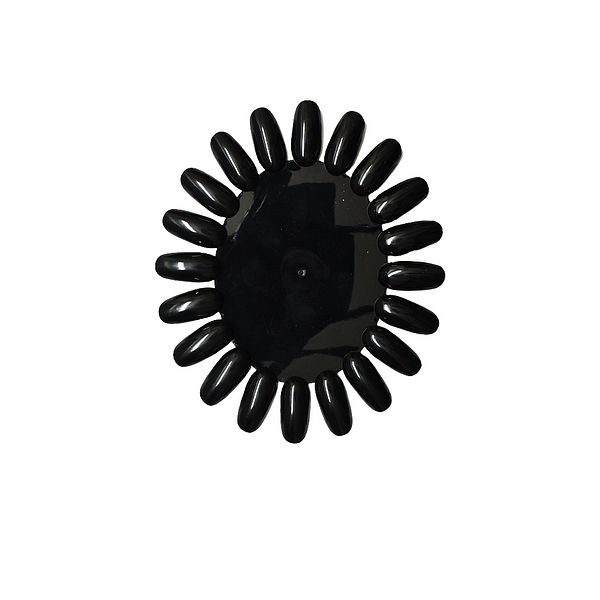 Ovalna šablona crna (20 tipsi)