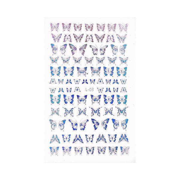 Holo Nail Art Naljepnice Butterfly Kisses 1