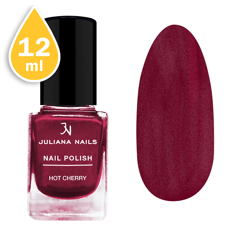 Lak za nokte Juliana Nails 12ml - hot cherry